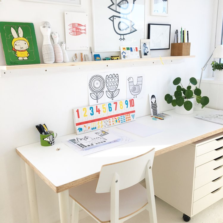 My illustration desk