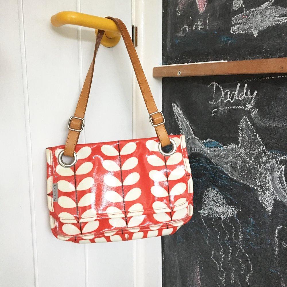 My favourite Orla Kiely red stem print bag from my Brighton days.