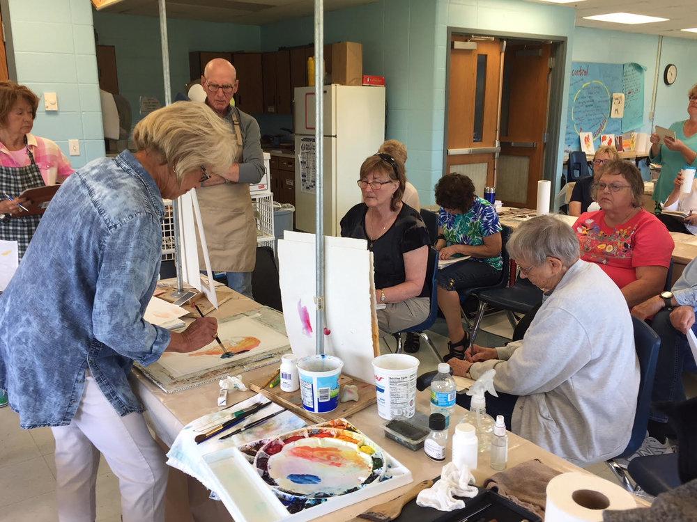 Barb Mathews Watercolor Workshop June 2018
