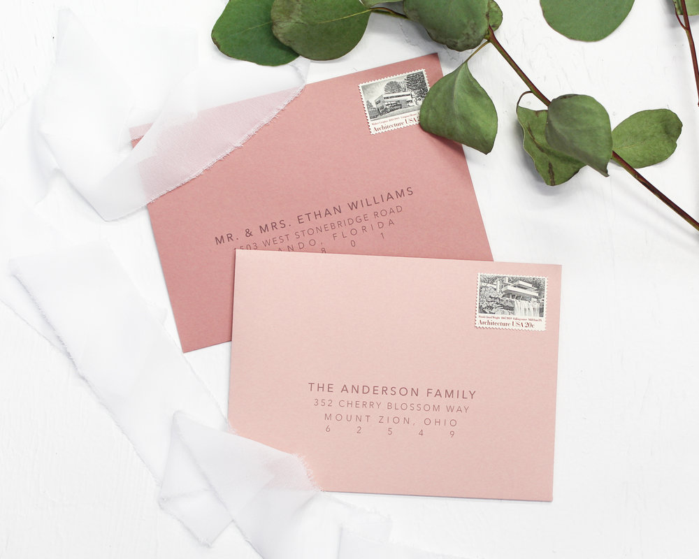 digitally printed guest addresses - Included in this add-on:- Digitally Printed Guest Addresses on the back of your envelopes$50.00