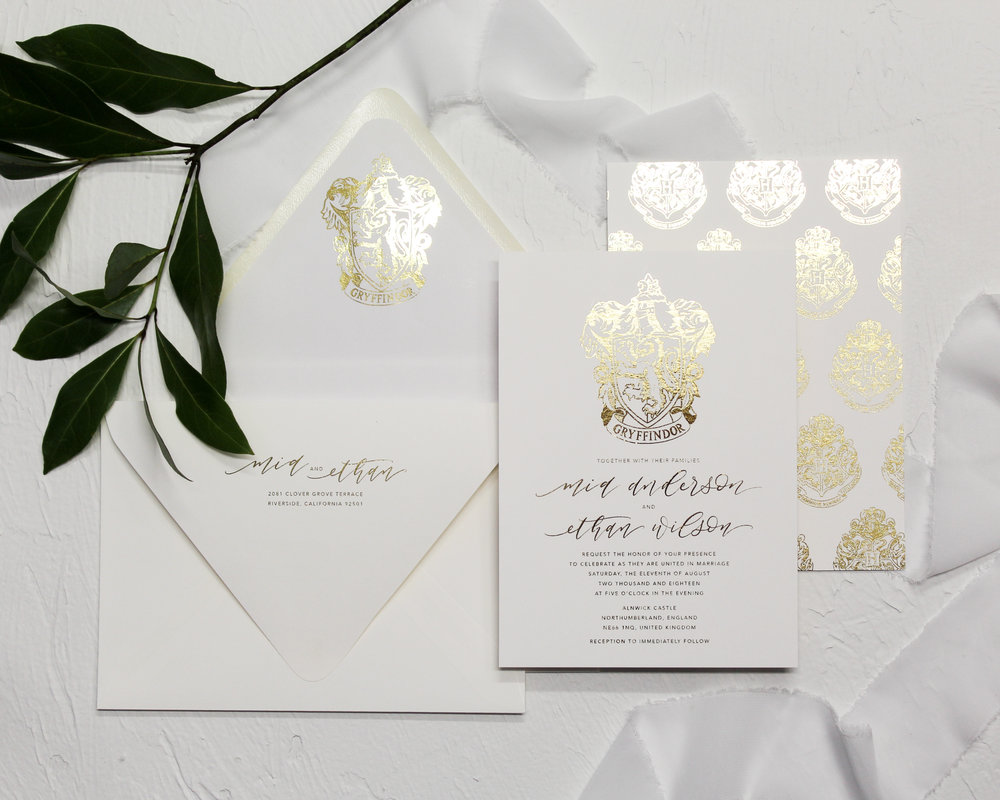 2 piece set - Included in this set:- Flat Foiled Invitation-A7 Envelope with flat foiled return address and matching flat foiled liner.from $163.00