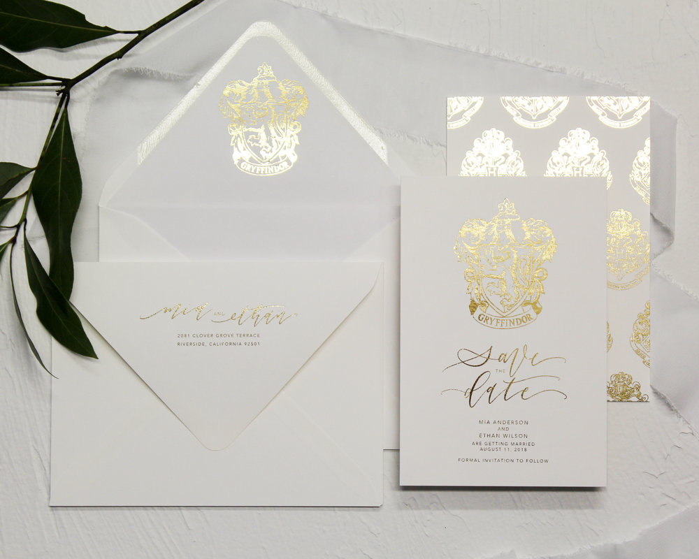Save the Dates - Included in this set:- Flat Foiled Save the Date- A6 Envelope with flat foiled return address and matching flat foiled liner.from $147.00
