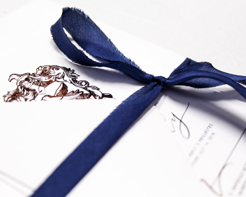Blue Silk Ribbon Assembly - Included in this add-on:- Blue Silk Ribbons wrapped and tied around your suite. The ribbon is 100% silk and are bias cut which gives them a dramatic drape.from $25.60