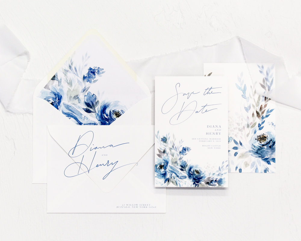 Save the Dates - Included in this set:- Save the Date- A6 Envelope with return address printing and matching liner.from $97.00