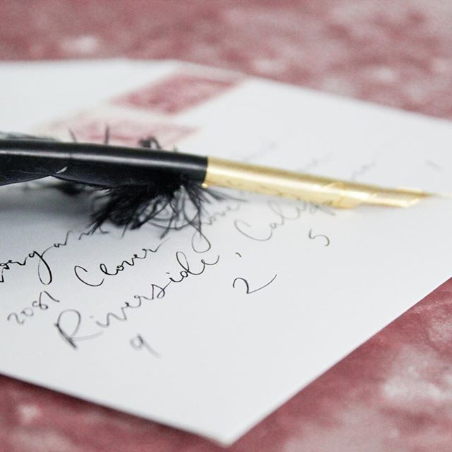 One of the more popular add-ons for my semi-custom collections, is handwritten calligraphy guest addressing. It always adds that special touch to your invitations. When your guests receive them, they instantly see how much care went into your paper choices. Brides are always so afraid that their invitations will just 'end up in the trash bin'. I'm here to ensure that doesn't happen. Give your guests the 'oh my gosh this is absolutely gorgeous' reaction, ensuring your invitation is a beautiful first impression of your wedding. . #faithintoart #stationery #invitationsuite  #invitations #invitationsuite #weddinginvitations #weddingpaper #dailydoseofpaper #paperlove #luxestationery #bespokestationery #pointedpen #pointedpenparade #moderncalligraphy #modernlettering #lettering #calligraphy #nomoreboringenvelopes #envelopeart #envelopeaddressing #envelopedesign #weddingenvelope #wedding #weddinginspiration #weddingideas #bridetobe #misstomrs #futurebride #justengaged #prettyinpink