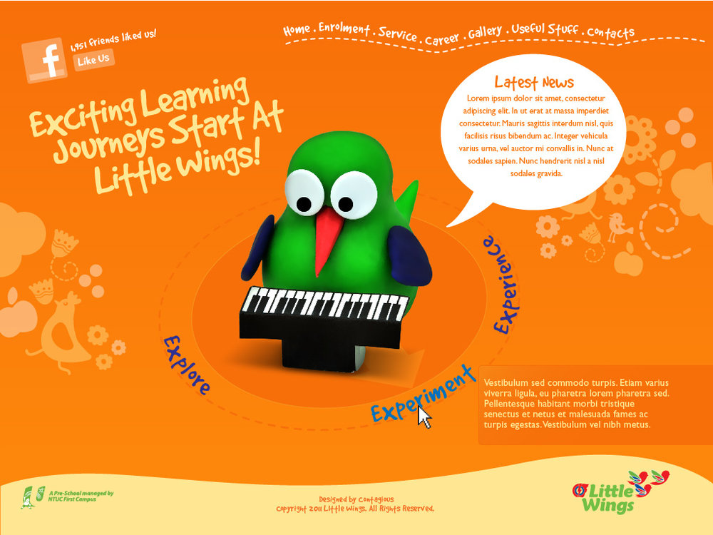 PCF Little Wings branding campaign