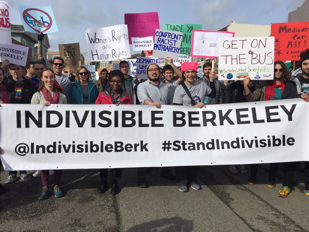 Indivisible Berkeley represents at the Women's March