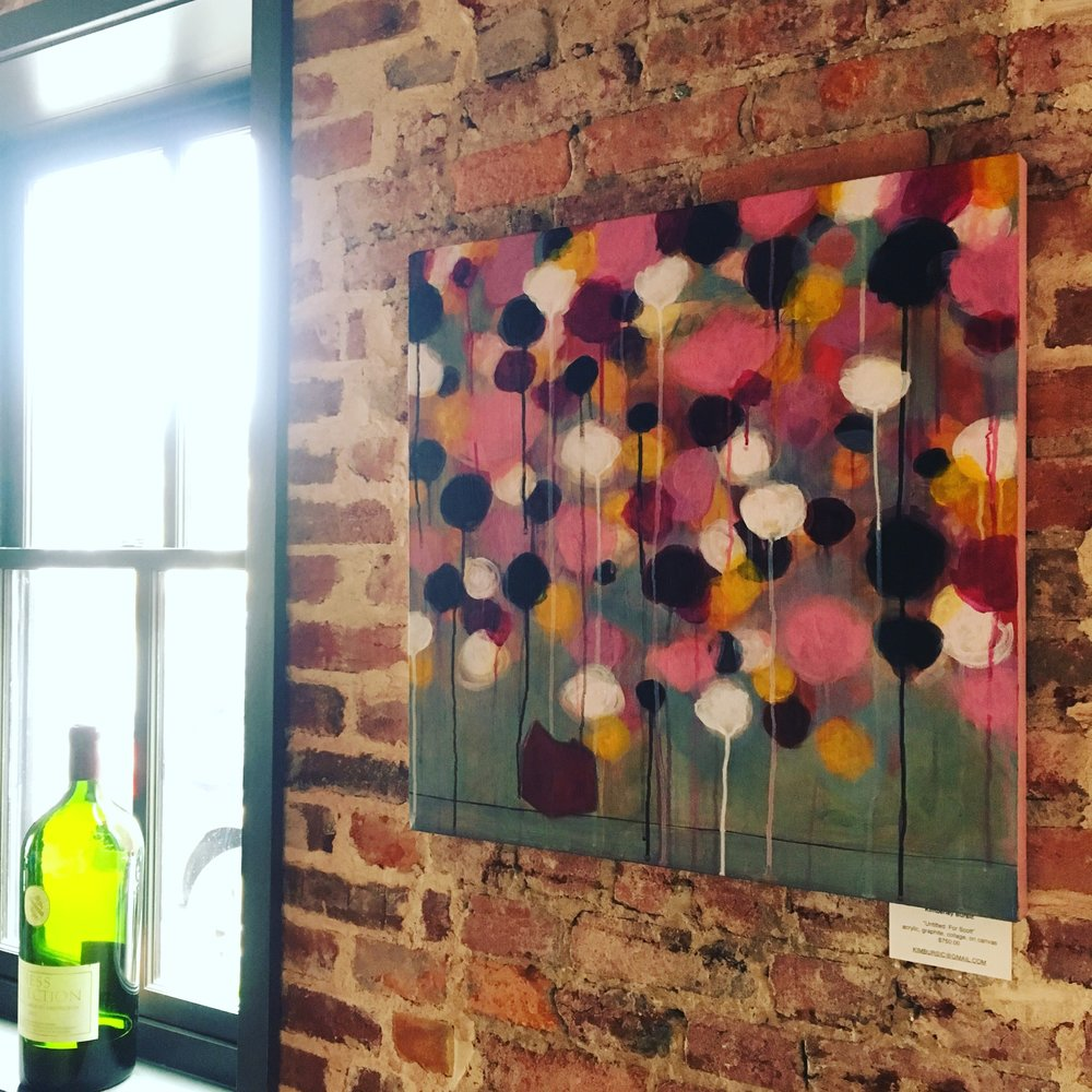Dual painting exhibit with Kay Fuller at Bar ENO, Georgetown through the end of March
