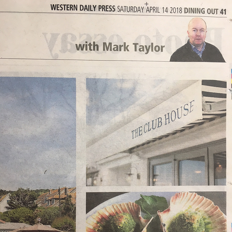 Rated 5/5 by Mark Taylor in the Western Daily Press - April 2018