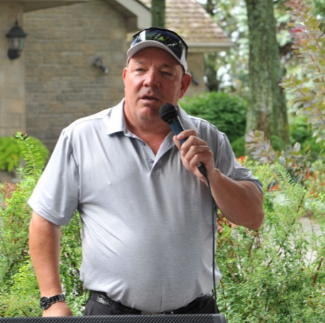Kevin Morgan welcomes guests to our 2nd Annual Golf for Hospice Tournament