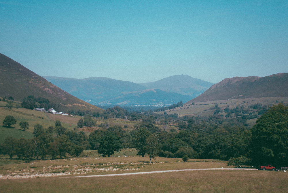 The view towards Braithwaite from High Snab Farm
