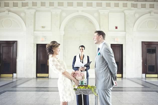 Intimate ceremony at Old Courthouse on the Square