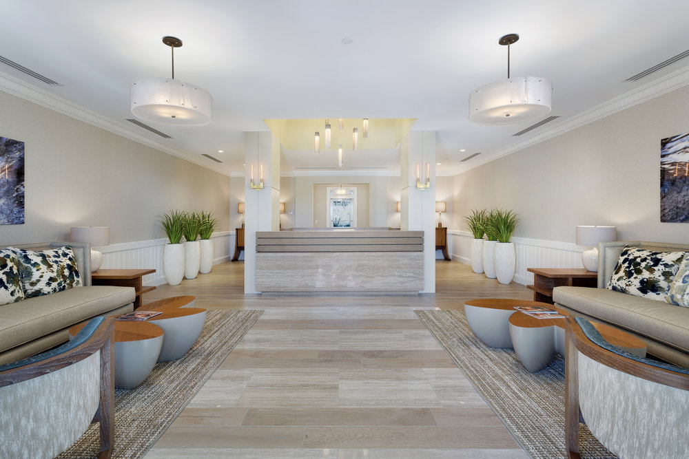Seagate Residences Lobby  Delray Beach, FL   View Project