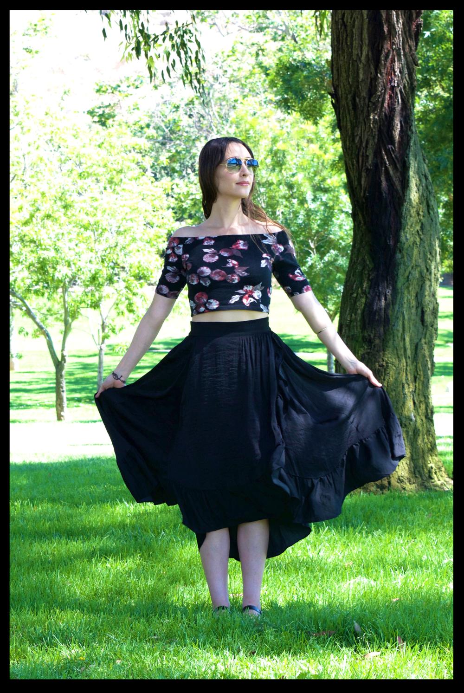 skirt.romantic.ruffles-Maje-street.style