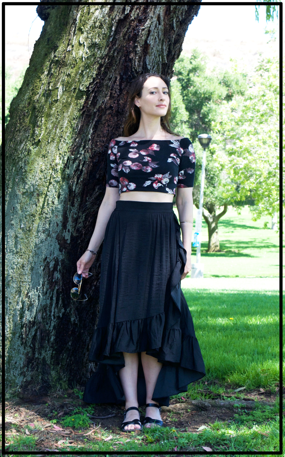 style-romantic.Maje.black-skirt