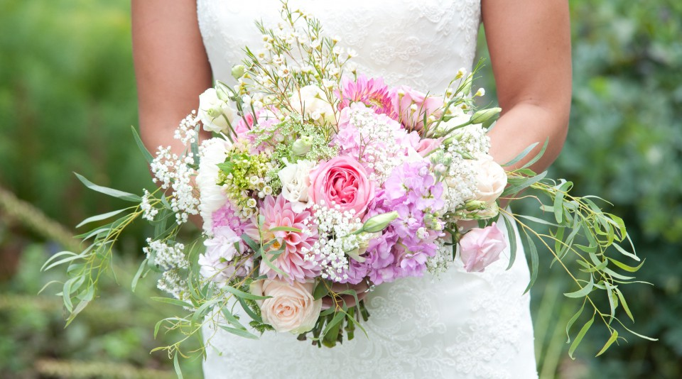 Pink and white september wedding flourish flowers mightylinksfo