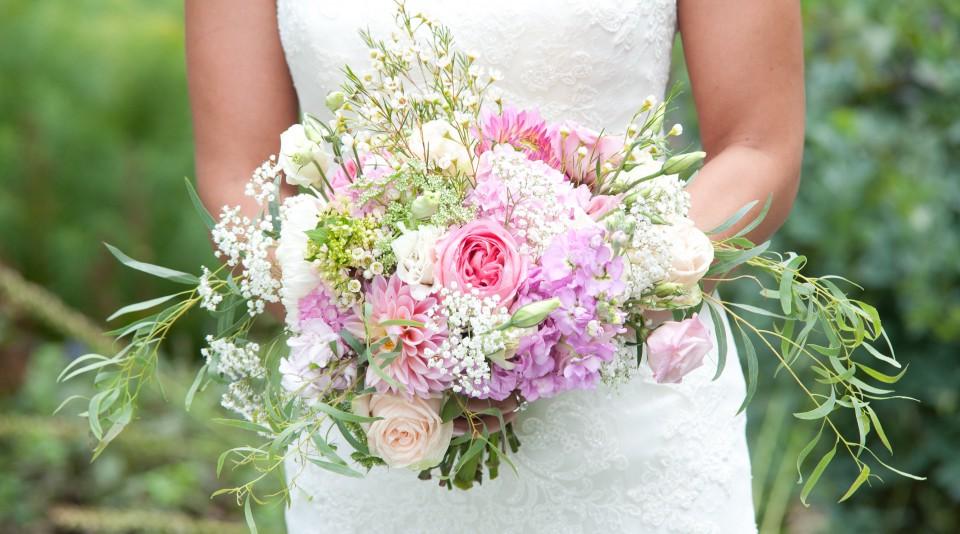 Pink And White September Wedding Flourish Flowers