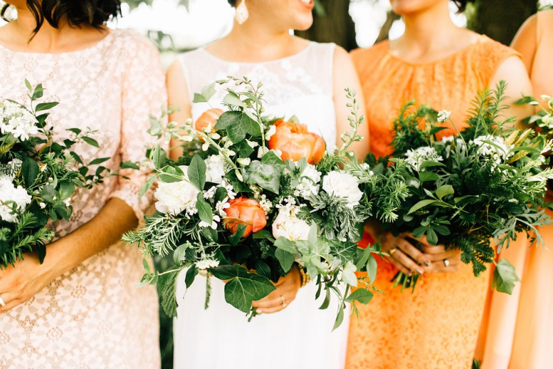 Coral and Green Wedding — Flourish Flowers