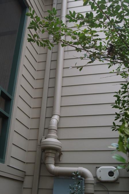 Elegantly hidden, matching the siding color