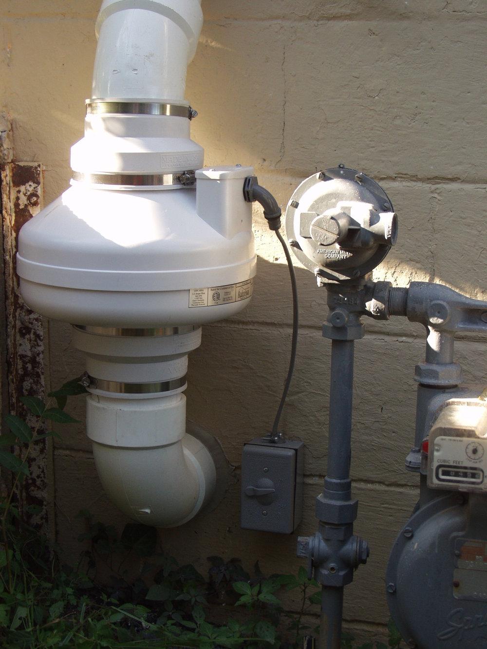 Charlottesville radon system