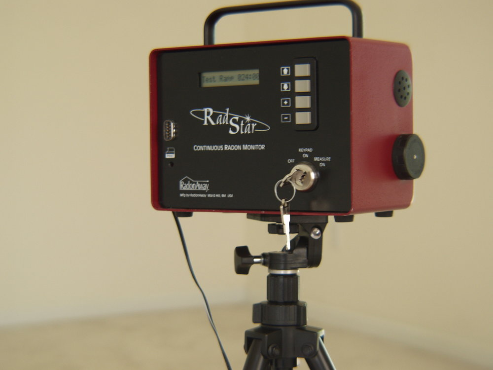 Radon testing equipment, continuous monitor