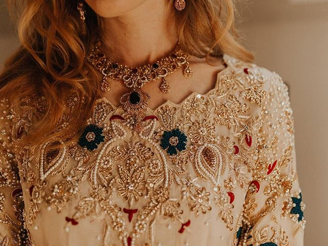 Trust...is what @emkayekhan had when waiting for her traditional Arabic wedding dress. Not a single photo or fit session. Just an amazingly beautiful surprise! Completely hand-stitched. Every. Single. Beaded. Detail! . . planning: @mksocialco photo: @rachelleinerphotography hair: @c.kingbrides . . . #handmade #handstitched #custommade #customdesign #customdress #beaded #trusttheprocess #arabicbride #bridestyle #newenglandbrides #backyardwedding #destinationwedding #newenglandwedding #arabicwedding #weddingstyle #weddingdetails #weddingdress #weddingfashion #weddingwednesday #weddingphotography #weddingplanner #destinationweddingplanner #newenglandweddingplanner
