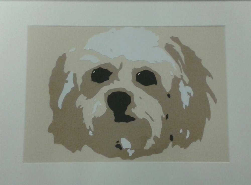 Paper cut portrait of Murphy :)