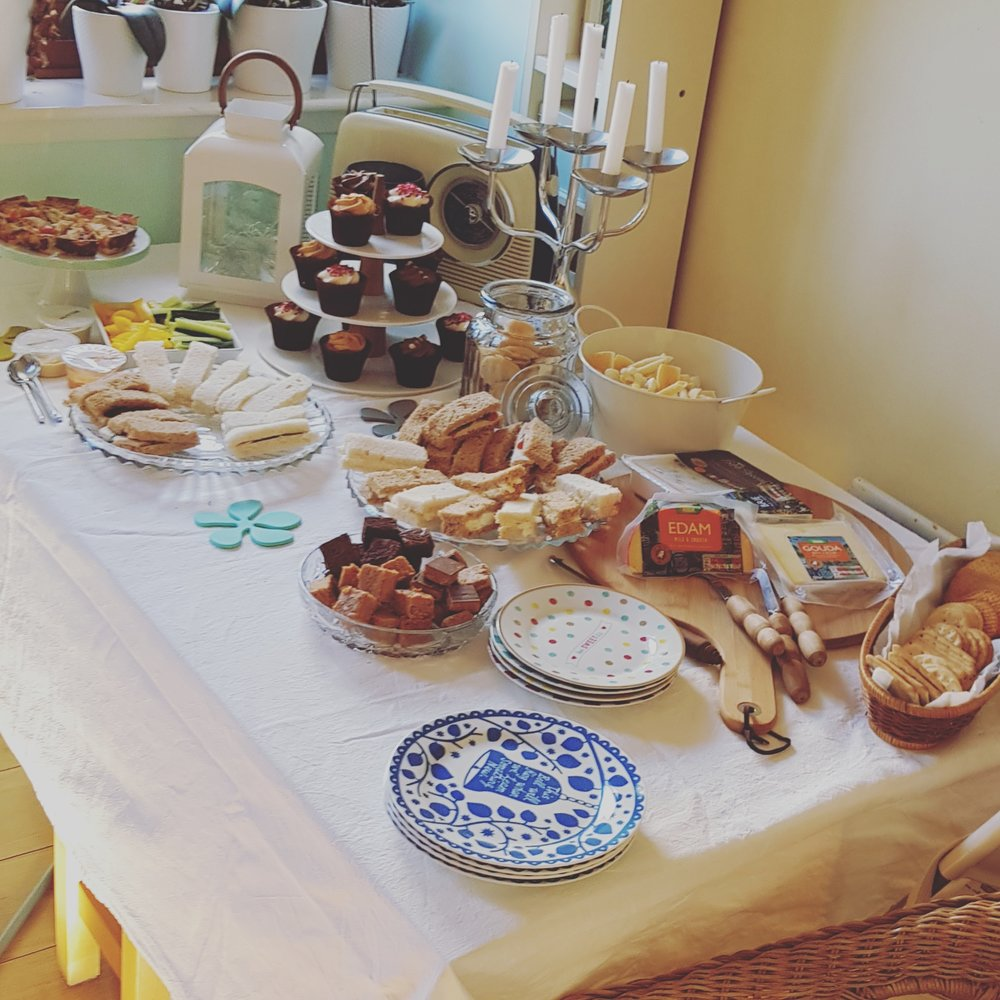 Can't have a get together without an afternoon tea!