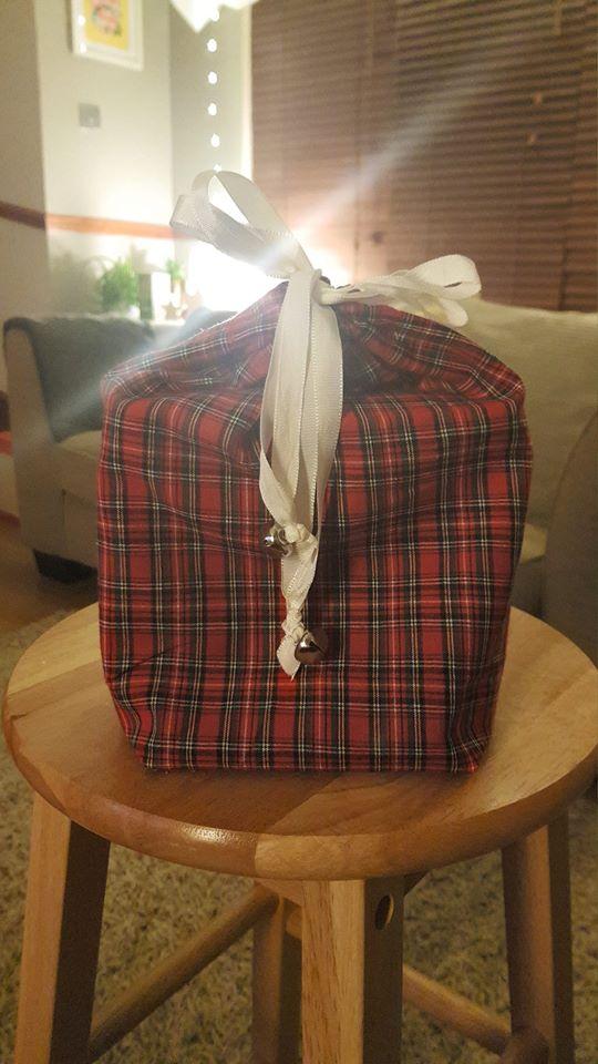 Homemade Fabric Gift Bag