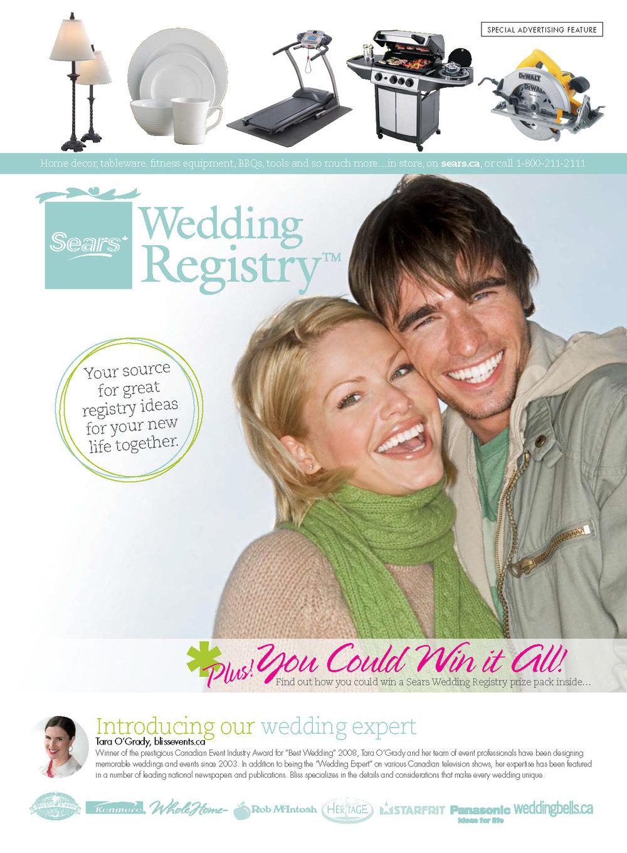 Sears Canada Gift Registry Wedding Canada Wedding Rings Sears