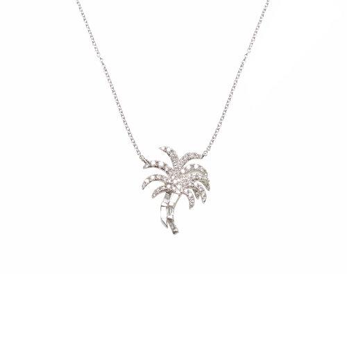 Palm tree diamond necklace ri noor palm tree diamond necklace aloadofball Images