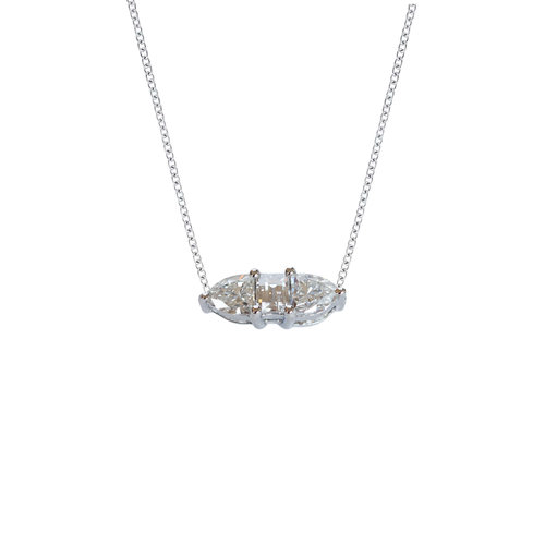 Three fancy diamond horizontal necklace ri noor three fancy diamond horizontal necklace mozeypictures Image collections