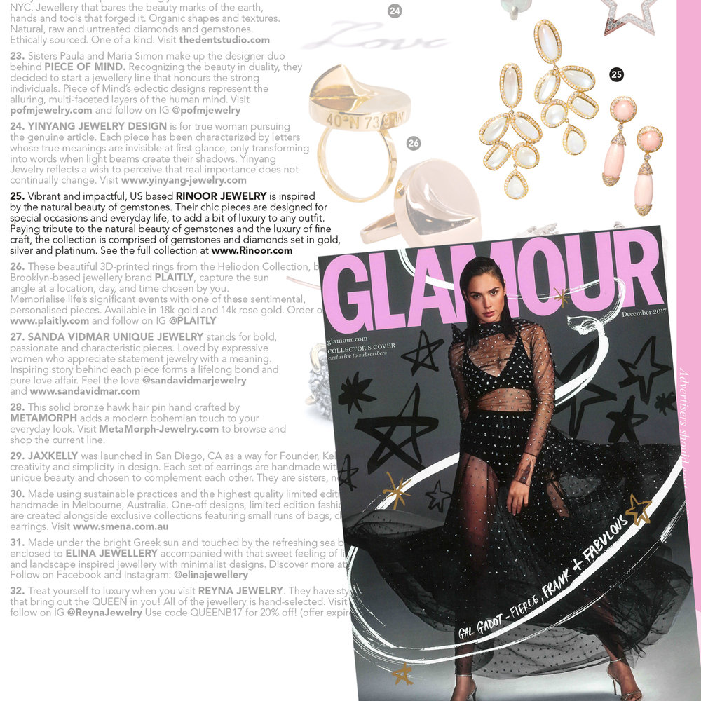 Glamour Magazine, December 2017