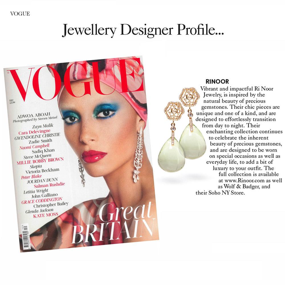 Vogue UK, December 2017