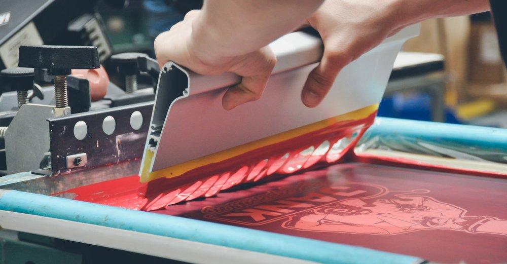 screen printing screening screen print