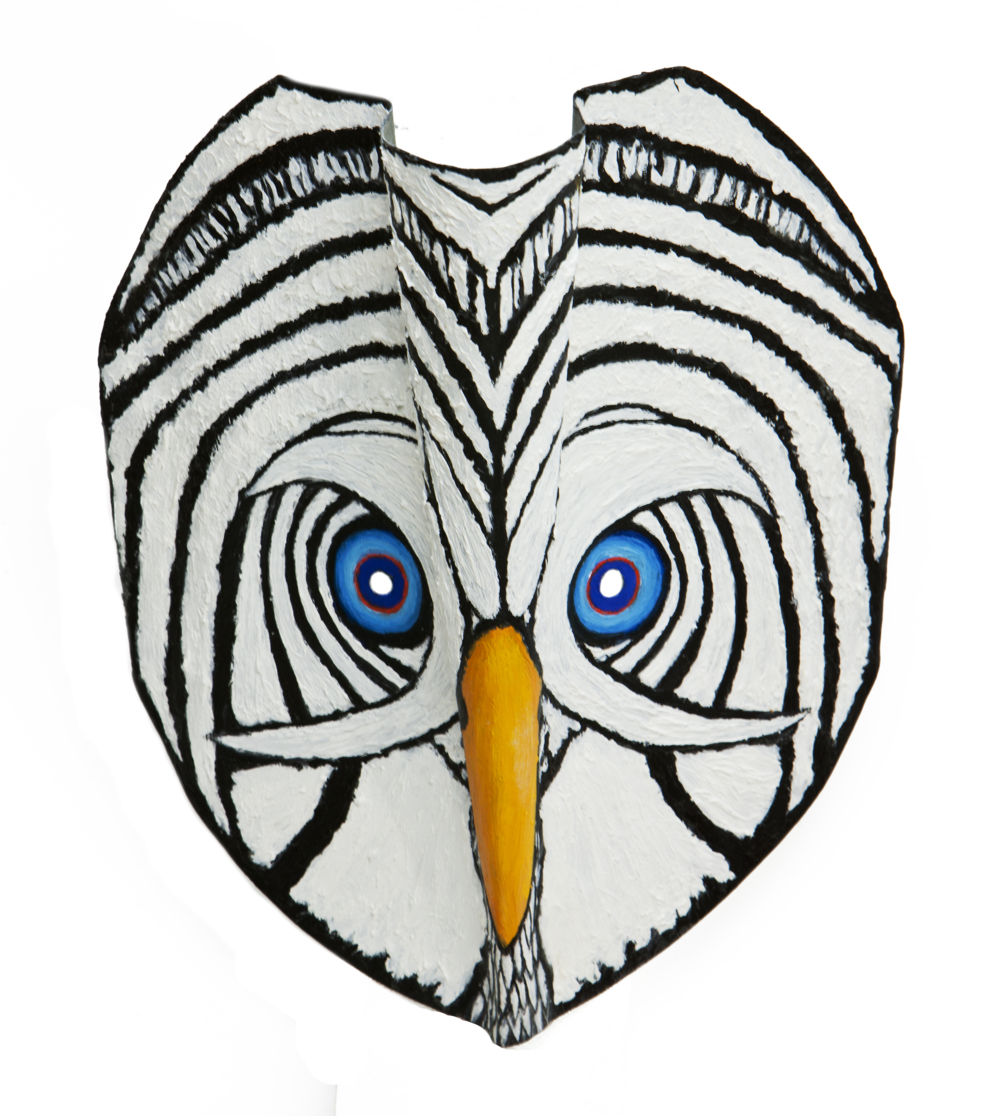 Blue Eyed Owl Mask