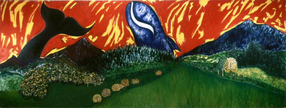 Landscape 1 ; 72x 192; O/C; 1977