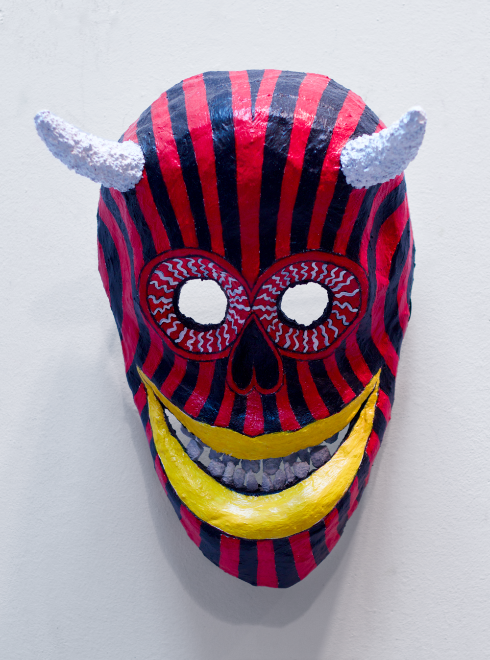 Red & Black Devil Death Mask