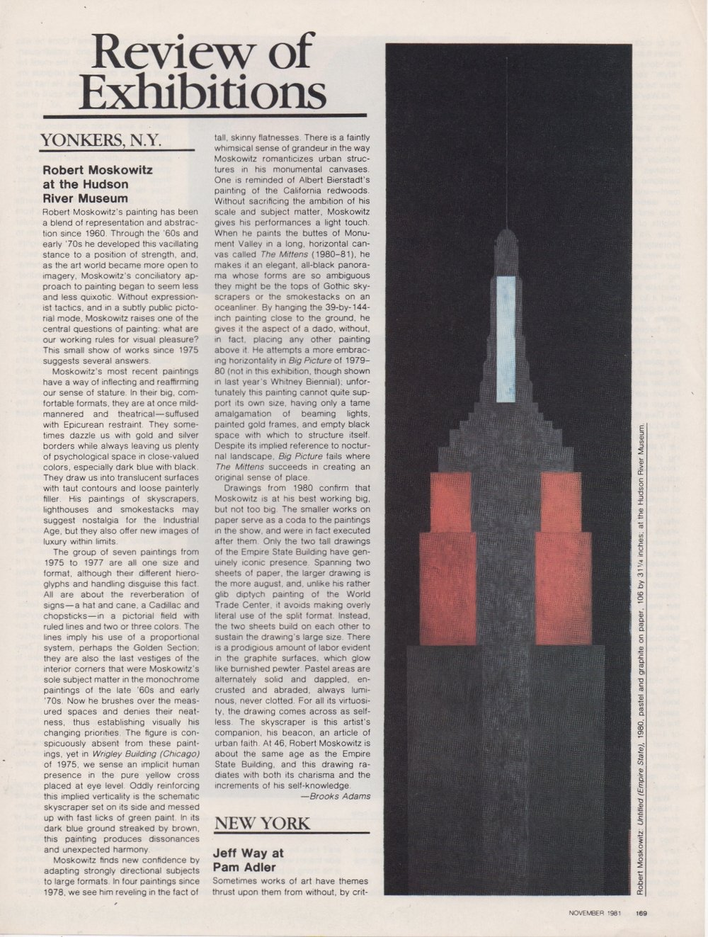 Review of Exhibitions, Ratcliff Carter, Art in America, 1981
