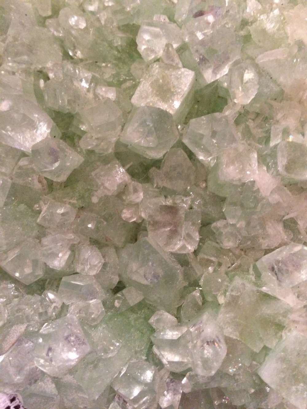 Green Apohyllite from India SQ10 8x5x2 $250.00