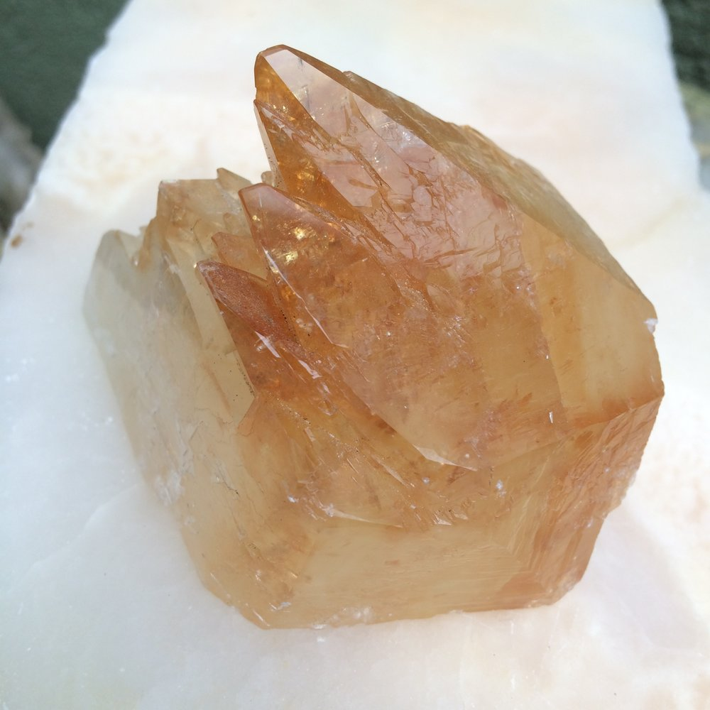 Golden Calcite Crystal Point from Tennessea SQ11 3x2x2 $125.00