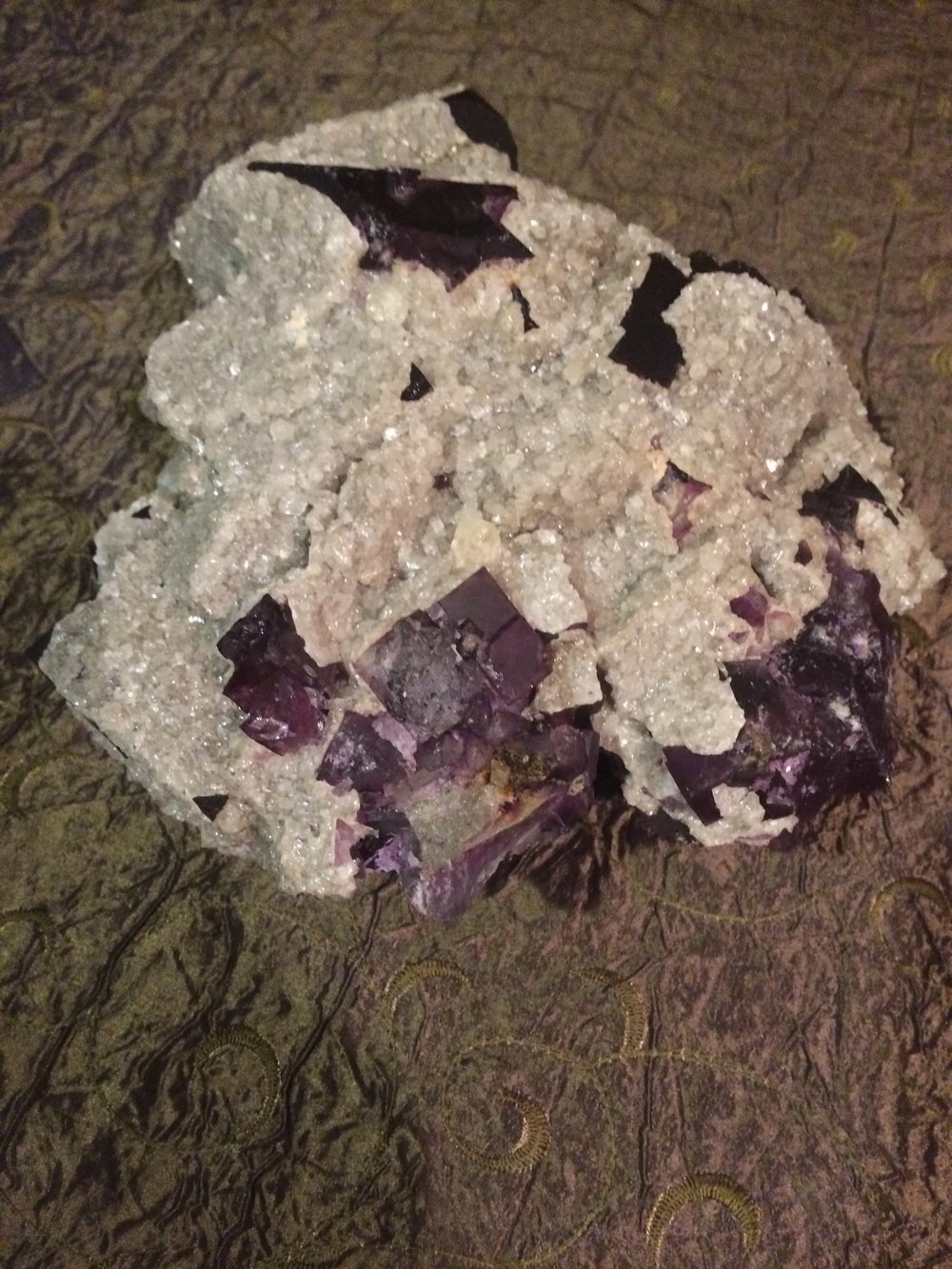 Fluorite w/ Crystal Calcite from Morocco SQ13 9x8x4 $750.00