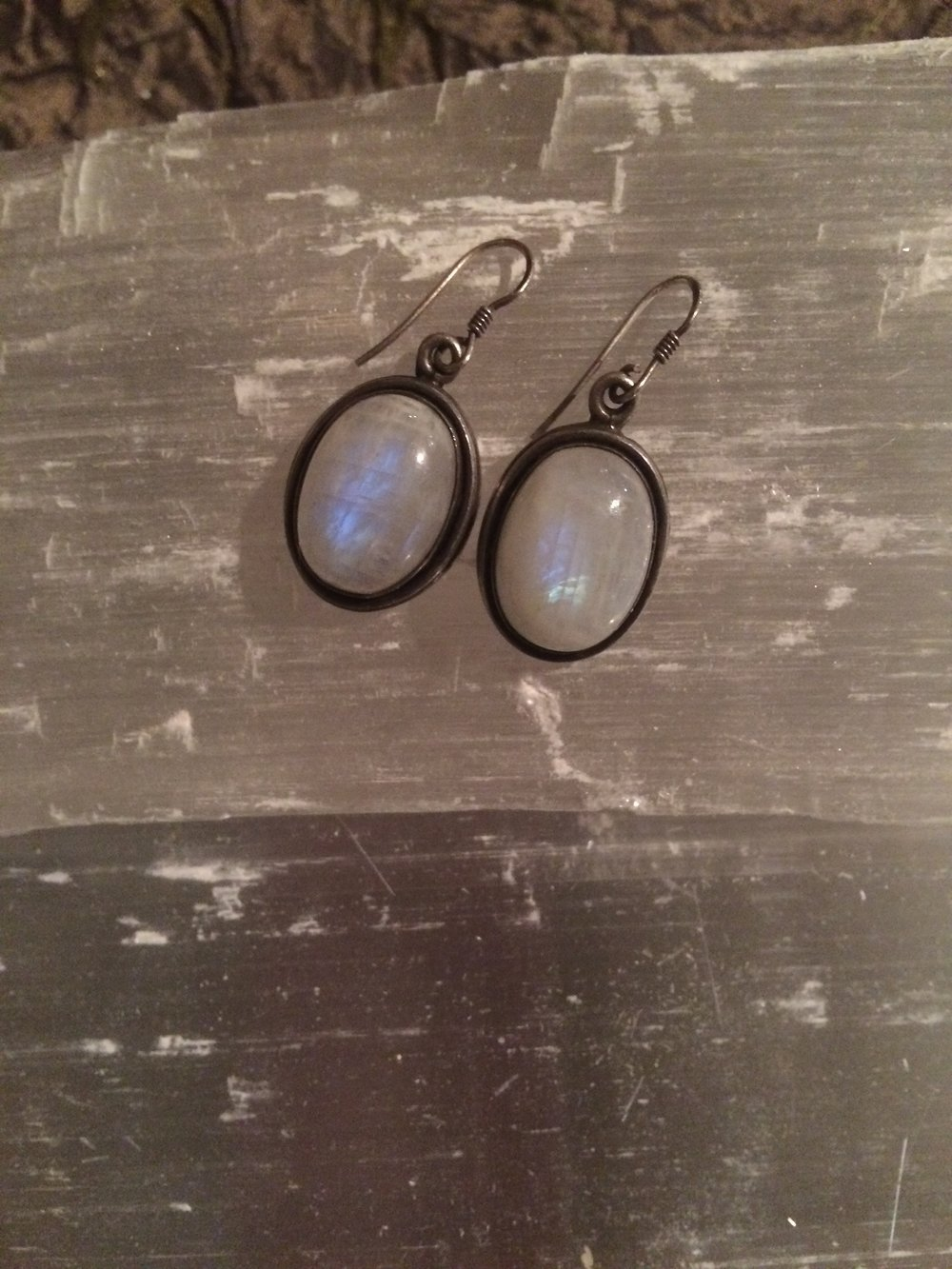 Moonstone Earrings SQ104 1.5x.75 $30.00