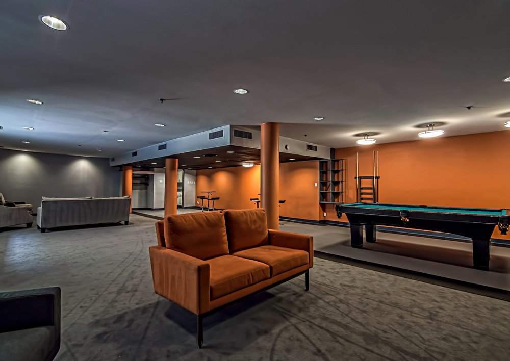 Current recreation room near the pool