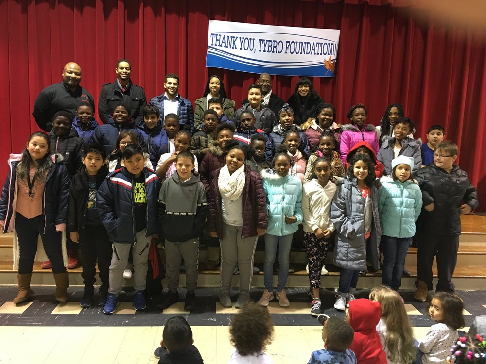 In November 2018, The Tybro Foundation provided Brand New Winter Coats for all students at Kirkman Park Elementary.