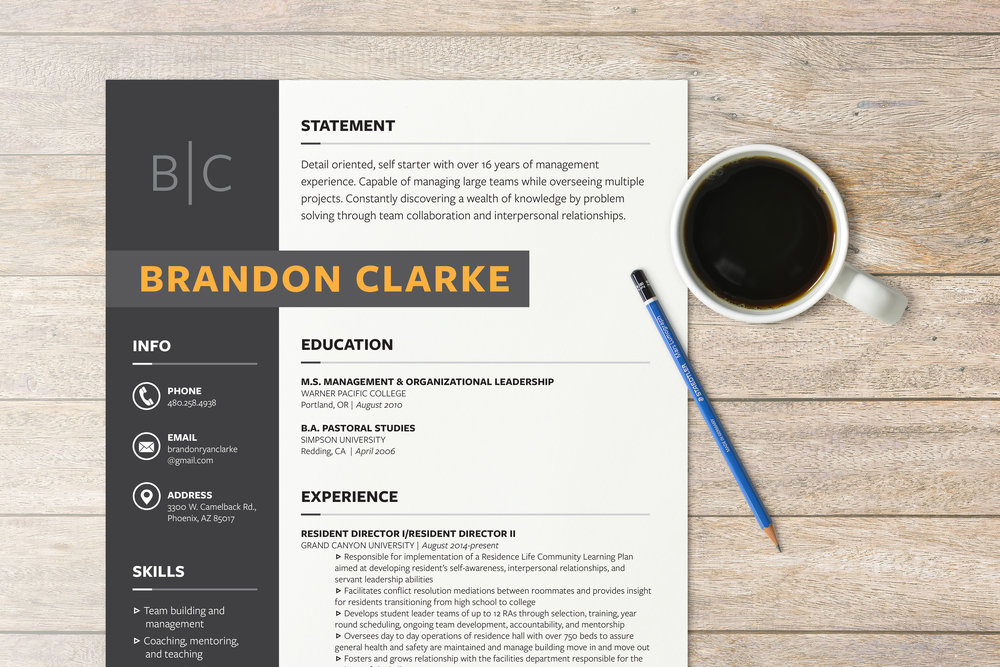 Sleek And Modern Resume Cover Letter Designs For Professionals In The Higher Education Customer Service Industries
