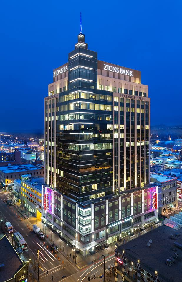 Zion's Building Downtown - This 18-story building in Boise, Idaho stands 323 feet tall and is the tallest building in the state. It houses the Idaho headquarters of Zions Bank. Construction was completed in early 2014. The location, formerly known as