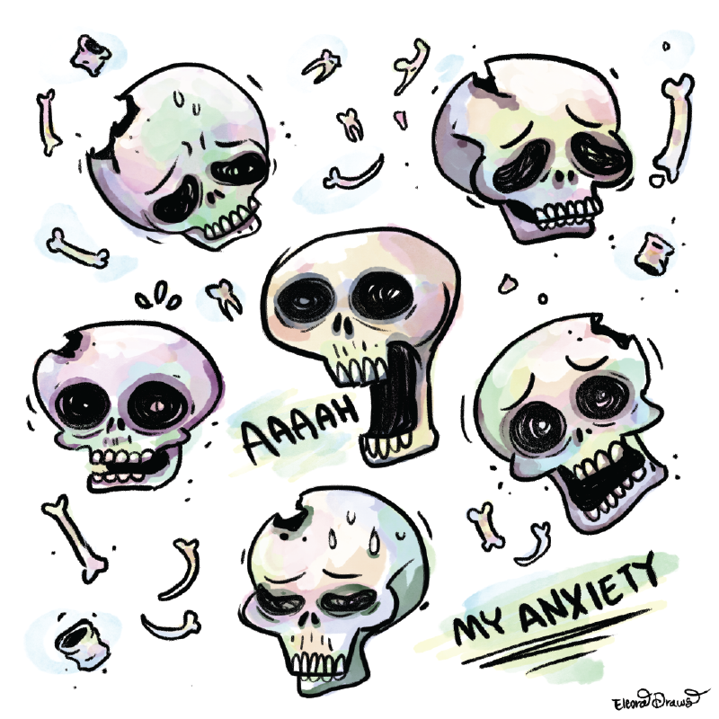 Anxiety Skulls