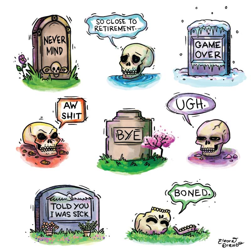 Skulls and Headstones