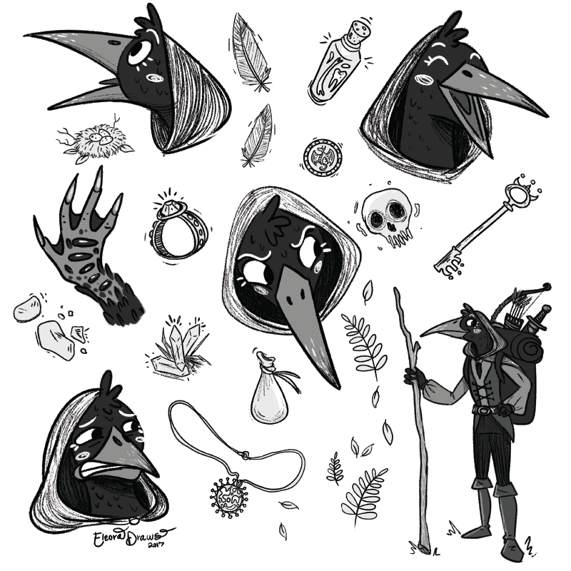 Branwen Murder Bird Sketches